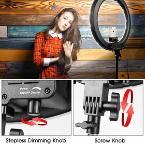 Image 5 - Travor 18 inch LED Ring Light Dimmable Bi color 512PCS Annular Lamp With Tripod For Studio Photography Lighting Ring Lamp