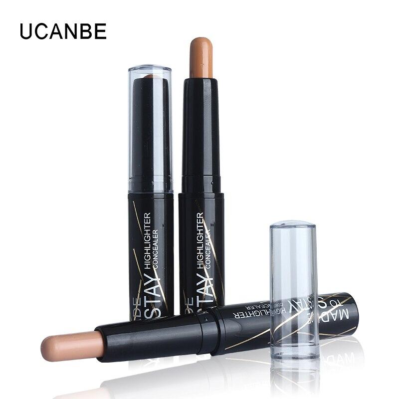 Brand 3 Colors Creamy Contouring Matte Bronzer Stick Concealer Stick Makeup Waterproof Long Lasting 3D Face Contour Shadow Stick