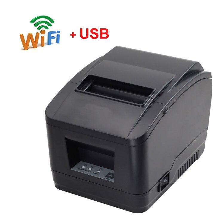 80 мм автоматический резак wifi + USB порт чековый принтер Bill принтер поддержка qr-код для кухонного принтера wifi принтер