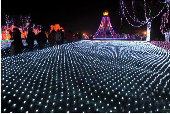 Us 13 92 13 Off 3m 2m 200led Led Net Lights Large Outdoor Christmas Decorations Garden Mesh Fairy Light Christmas Outdoor Waterproof Ac 220v In