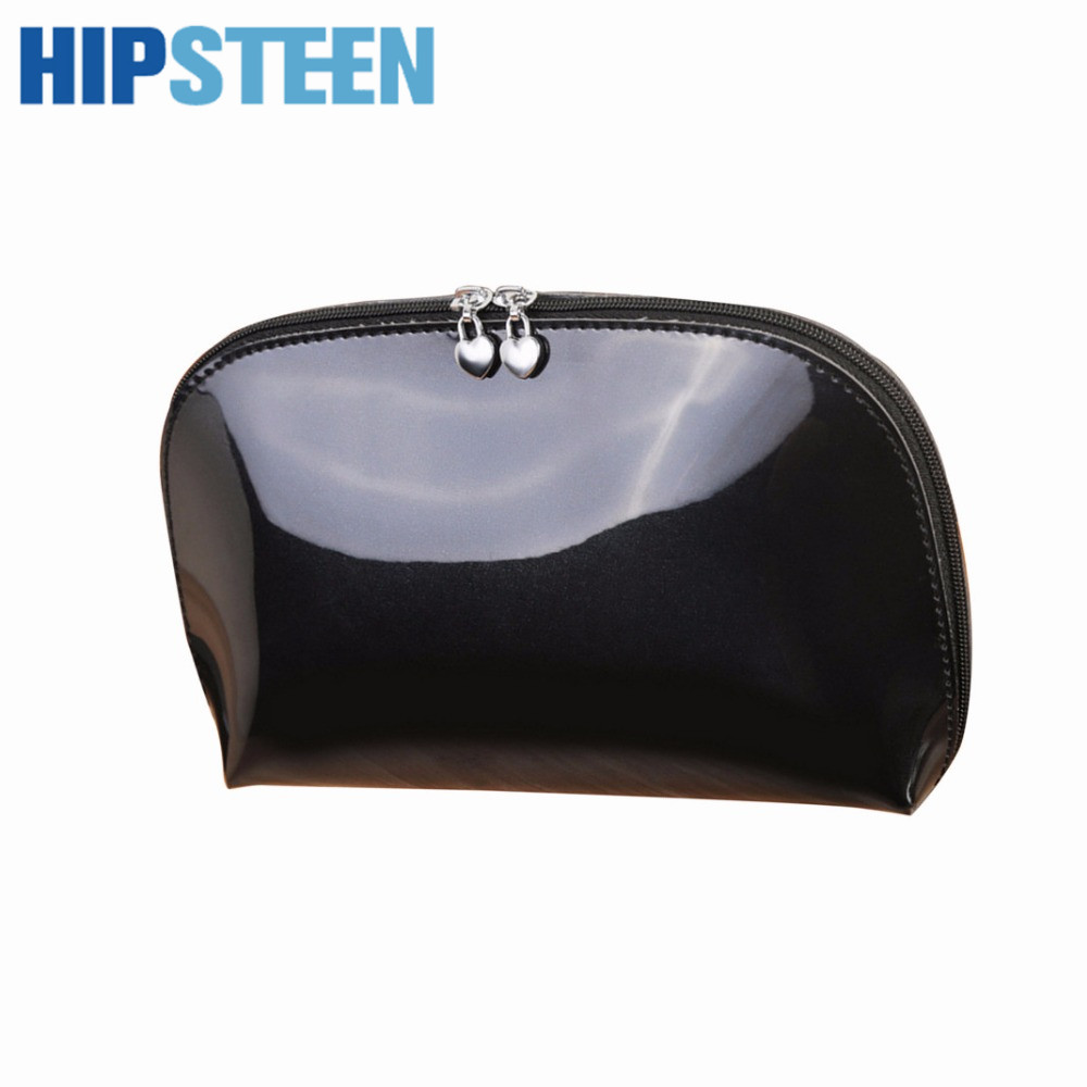 HIPSTEEN Portable Fashion Women Cosmetic Bag Durable Travel Organizer Storage Cosmetics Case Makeup Make Up Bag - Black Red hiinst black portable and durable waterproof portable carrying storage aluminum alloy case box for spark drop aug15