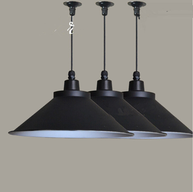 Supermarket Office Showroom Barber Shop Clothing Store Restaurant  Chandelier Black Shade E27 Lamp Base 10PCS