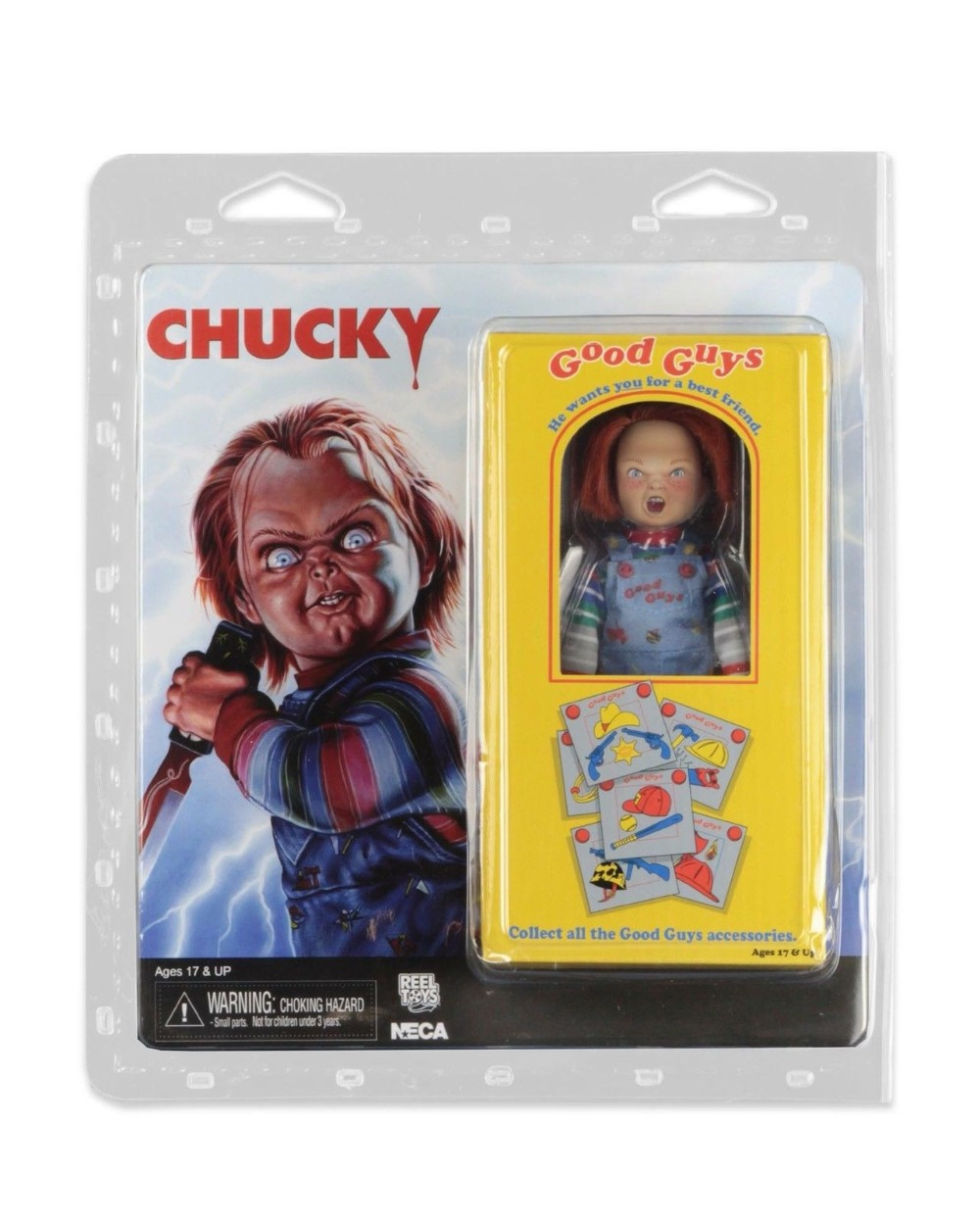 Hot Sale Action Figure Toys Classic Terror Film Figurine NECA Childs Play Good Guys Chucky Hammer <font><b>Bat</b></font> <font><b>Knife</b></font> 8