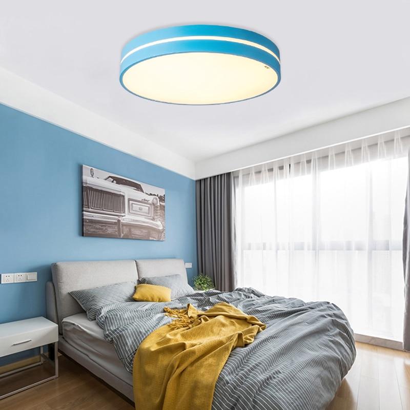 HA CONDOTTO l'illuminazione del soffitto Nordic macarons Dimmerabile luce camera da letto moderna lampada della stanza dei bambini in Acrilico AC90 260 luminaria spedizione gratuita - 5