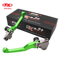 FXCNC Pivot Motocross Dirt Pit Bike Brake Clutch Levers For Kawasaki KX450F KX250F KX 250F 450F