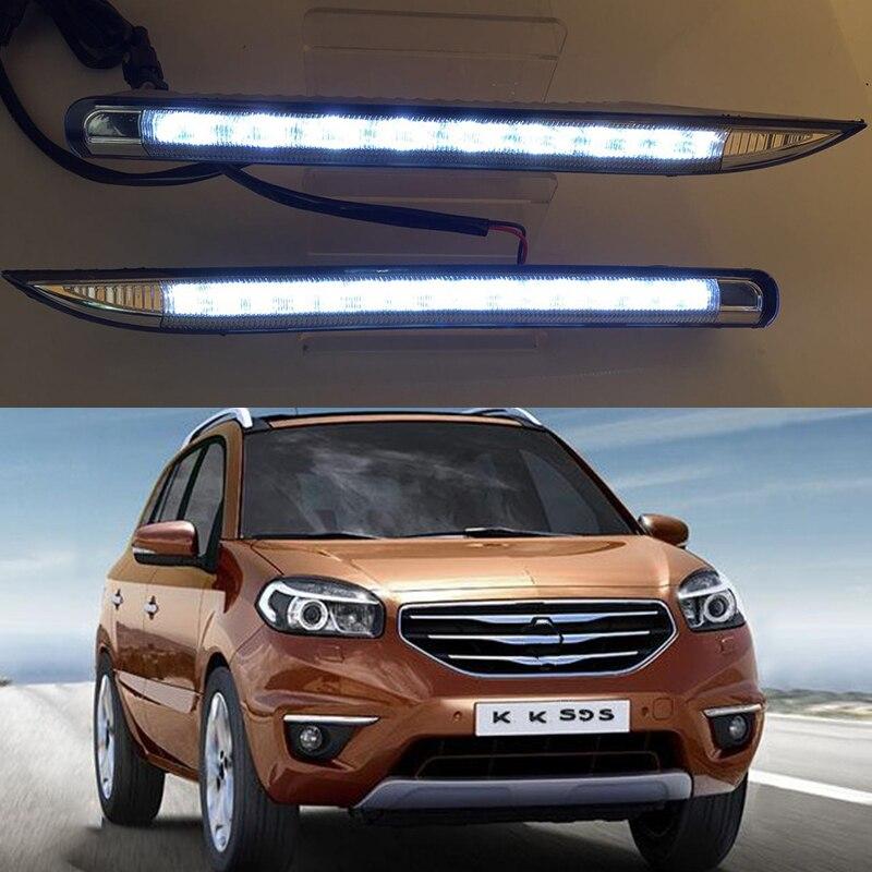 Car Flashing 1Pair DRL daytime running light Fog Lamp Day Light daylight fog lamp cover For