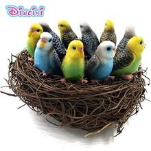 10pcs/lot Mini Parrot Birds Animals Toys Set Model Action Figure Home Figurine Educational Kids Hot Toys For Children Boys Girls