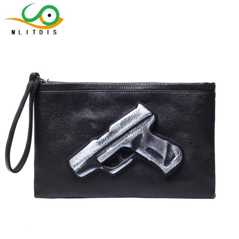 MLITDIS 3D Pistola de Impresión Bolsa de Mensajero de Los Hombres de Cuero de La