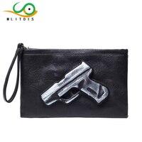 MLITDIS 3D Print Gun Women S Messenger Bag Men Leather Purses And Handbags Clutch Bag Women