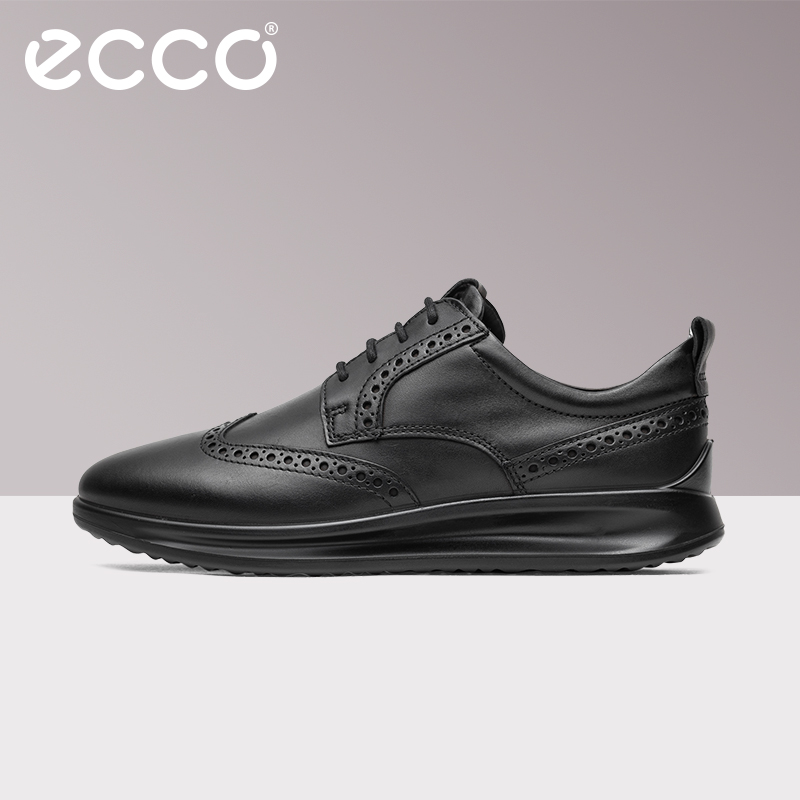 3911c0b7 ECCO 2019 Fashion Business Men's Casual Shoes Classic Genuine Leather  Footwear Lace-Up Men Breathable Walking Sneaker Shoes