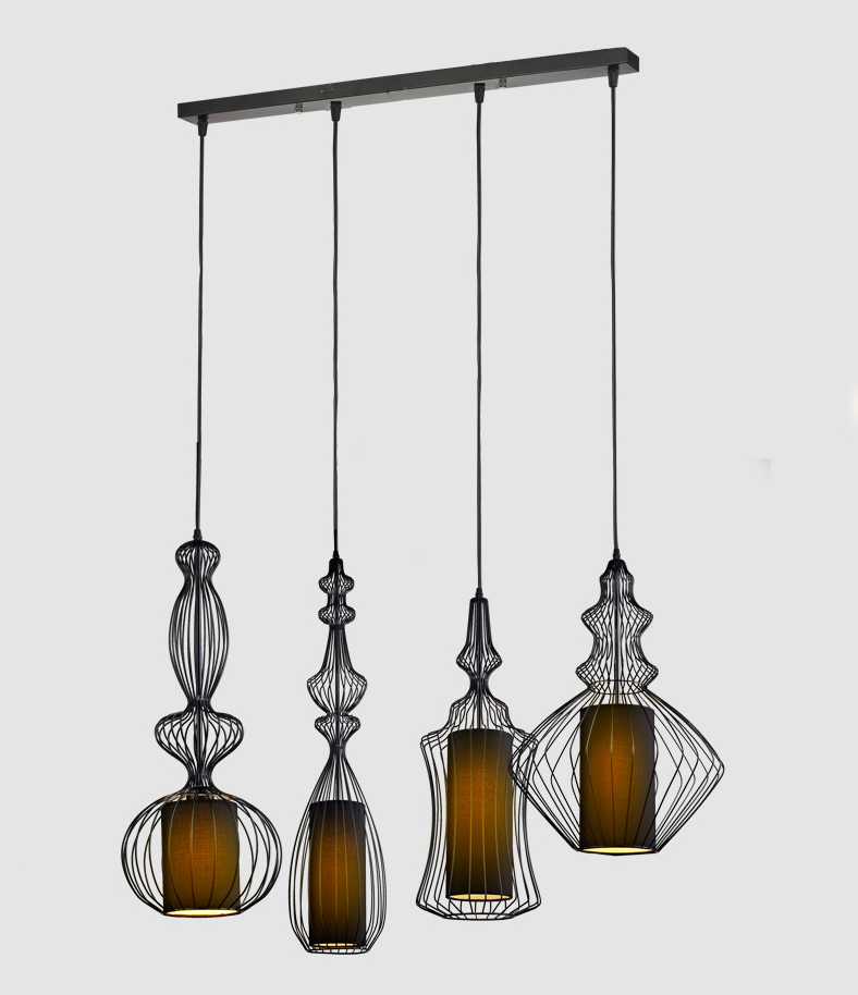 Creative Vintage Birdcage Ceiling light Black & White Wrought Iron Cage Lights Restaurant Dinning Bedroom Foyer Decoration Lamps creative star moon lampshade ceiling light 85 265v 24w led child baby room ceiling lamps foyer bedroom decoration lights