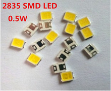 100PCS 2835 SMD LED Chip 0.5W 50-55LM Cool Warm White Ultra Bright Surface Mount Light Emitting Diode Lamp