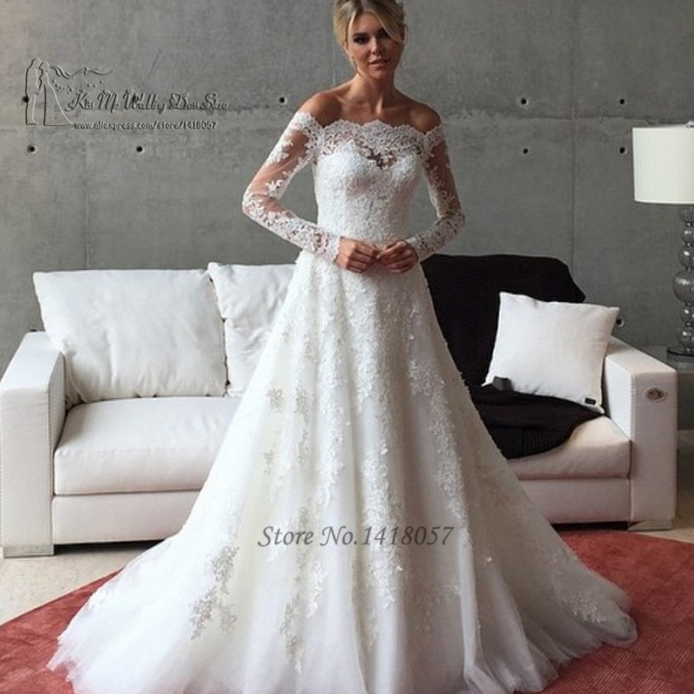 Off the Shoulder Wedding Dresses Size 14