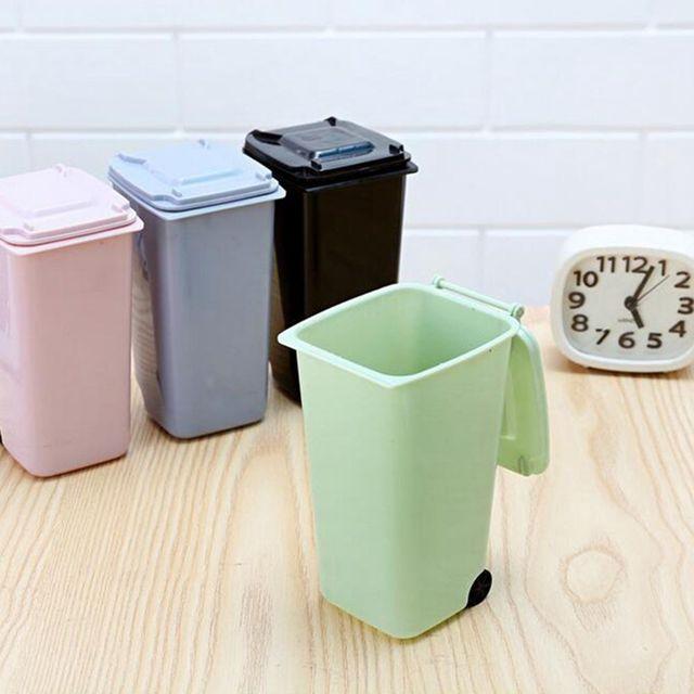 Petit Mini Portable Mignon Poubelle Poubelle Bureau Accessoires