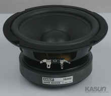 2PCS Kasun TS 632 6inch Woofer Speaker Driver Unit Large Magnet Black PP Cone Deep Rubber