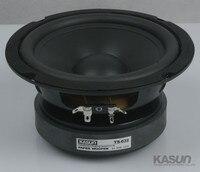 2PCS Kasun TS 632 6inch Woofer Speaker Driver Unit Large Magnet Black PP Cone Deep Rubber Surround Fs=40Hz 8ohm 130W D167mm