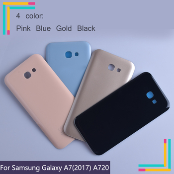 50Pcs/lot For Samsung Galaxy A7 2017 A720 A720F SM-A720F Housing Battery Cover Back Cover Case Rear Door Chassis A720 Shell