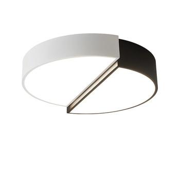 Luces de techo blanco color personalidad iluminación interior lámpara de techo para salón dormitorio ronda corredor lámpara IY108227