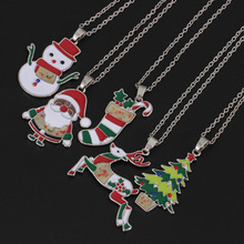 Christmas necklace snowman tree pendant  jewelry women gifts