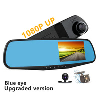 Car DVR Dual Lens Full HD 1080P Video Recorder Rearview Mirror With Rear View Automobile DVR