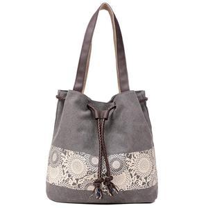 Image 1 - Borsa a tracolla da donna la nuova borsa di tela in stile nazionale e la borsa stampata retrò sono indossate dal dipartimento femminile Sen