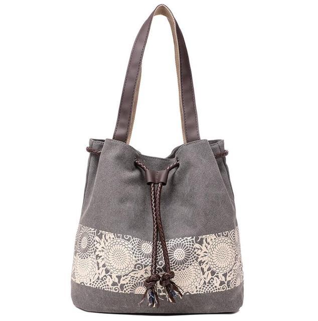 Borsa a tracolla da donna la nuova borsa di tela in stile nazionale e la borsa stampata retrò sono indossate dal dipartimento femminile Sen
