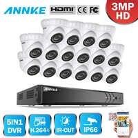 AZISHN anti-déflagrant H.265 8CH 4MP POE système de caméra de sécurité NVR Kit Audio IP caméra intérieure extérieure CCTV Surveillance NVR ensemble