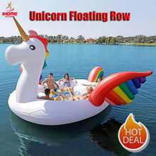 Giant Inflatable Unicorn Float giant flamingo float air animal Island for 6-8person футболка лодочка мопс зеленые глаза