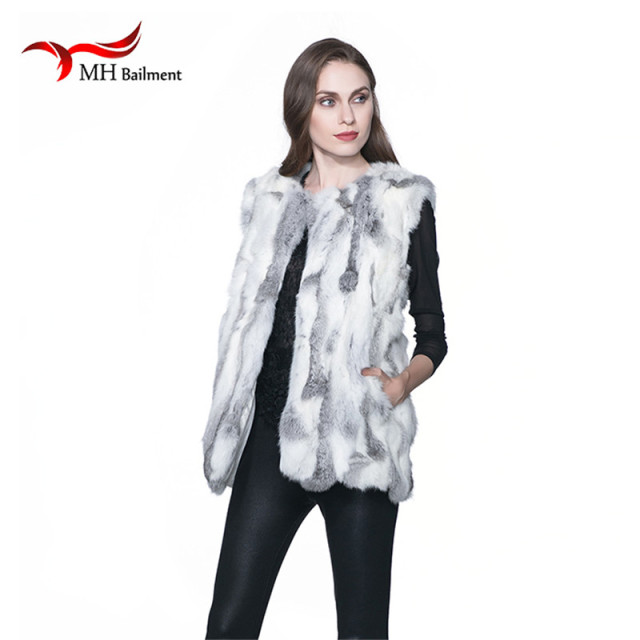 Sexy Fur Vest Women Rabbit Fur Vest Real Fur Coats For Women Winter Autumn Sale Fur Vest Coat Fashion Outwear High Quality A#12