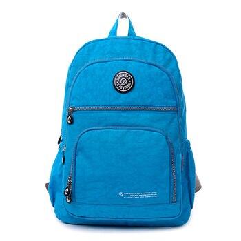 Nueva mochila informal para mujer, mochila para mujer, mochila de nailon resistente al agua, mochila de lona para mujer