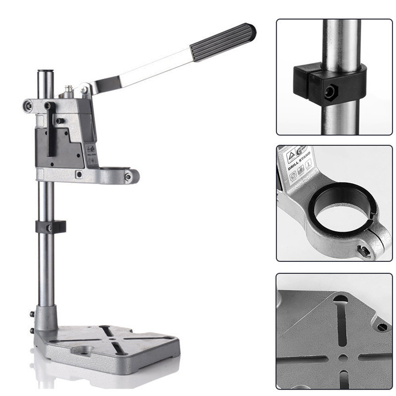 Aluminum Electric Drill Holding Holder Stand Bracket Grinder Rack Stand Clamp Base Frame Drill Chuck Single-Head For Power Tools цена и фото
