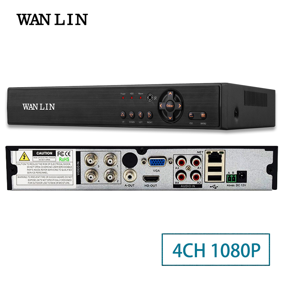 WANLIN 4Ch 1080P CCTV DVR NVR HVR 5 IN 1 AHD CVI TVI CVBS IP Camera Onvif 5MP NVR P2P View Support RS485 Coxial Control 4 in 1 ir high speed dome camera ahd tvi cvi cvbs 1080p output ir night vision 150m ptz dome camera with wiper