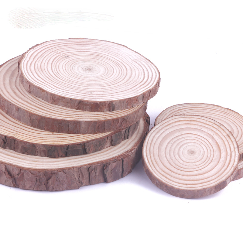8-15CM 1Pcs Unfinished Round Wood Slices For Kids DIY Crafts Painting Party Wedding&Engagement Home Decoration Handmade Gifts