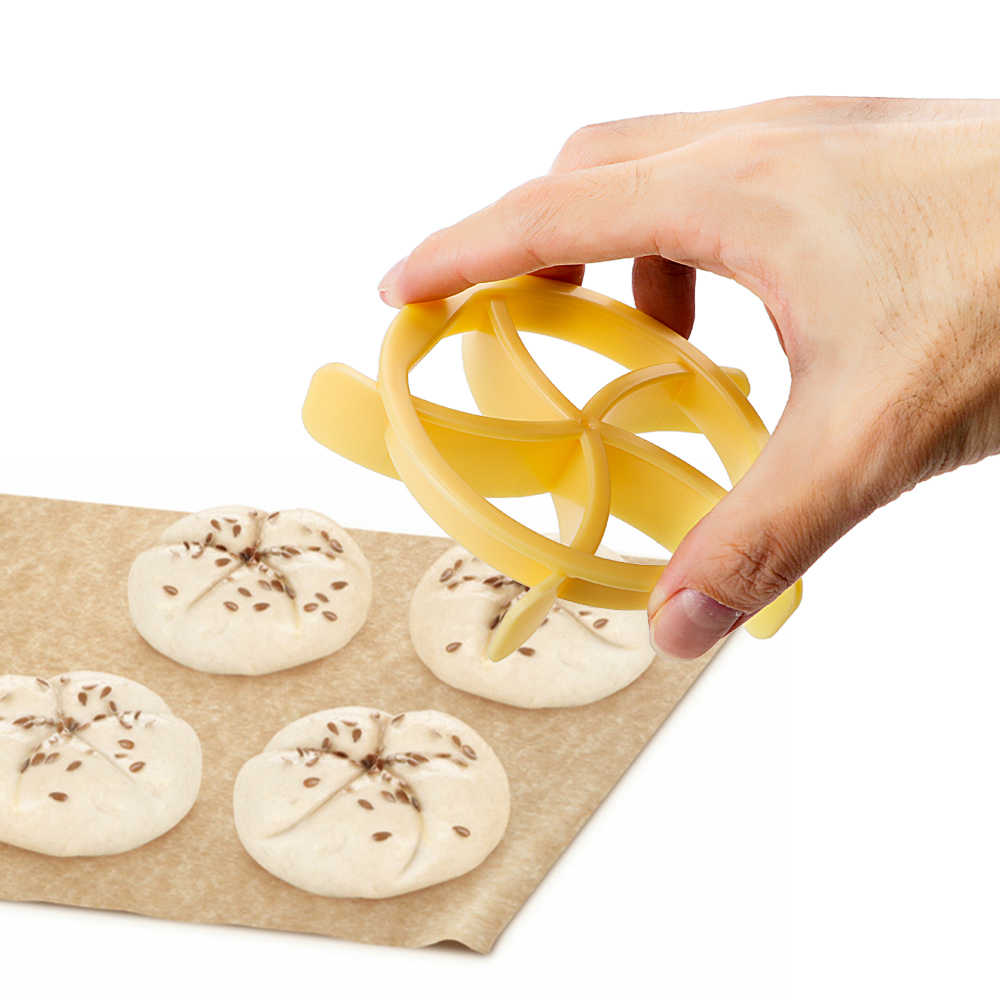 プレスパンロール型扇形生地クッキーケーキビスケットスタンプ金型プラスチック菓子カッターキッチンツール