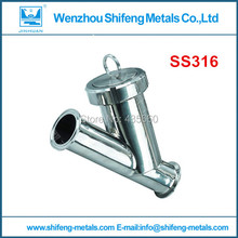 DN32 stainless steel 316ss sanitary Y type butt welded strainer