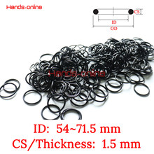 10x NBR ID 54 55 56 57 58 59 60 61 62 62.5 63 64 65 66 67 68 69 70 71 71.5 mm X 1.5mm Nitrile Rubber O Type Sealing Ring Gasket(China)