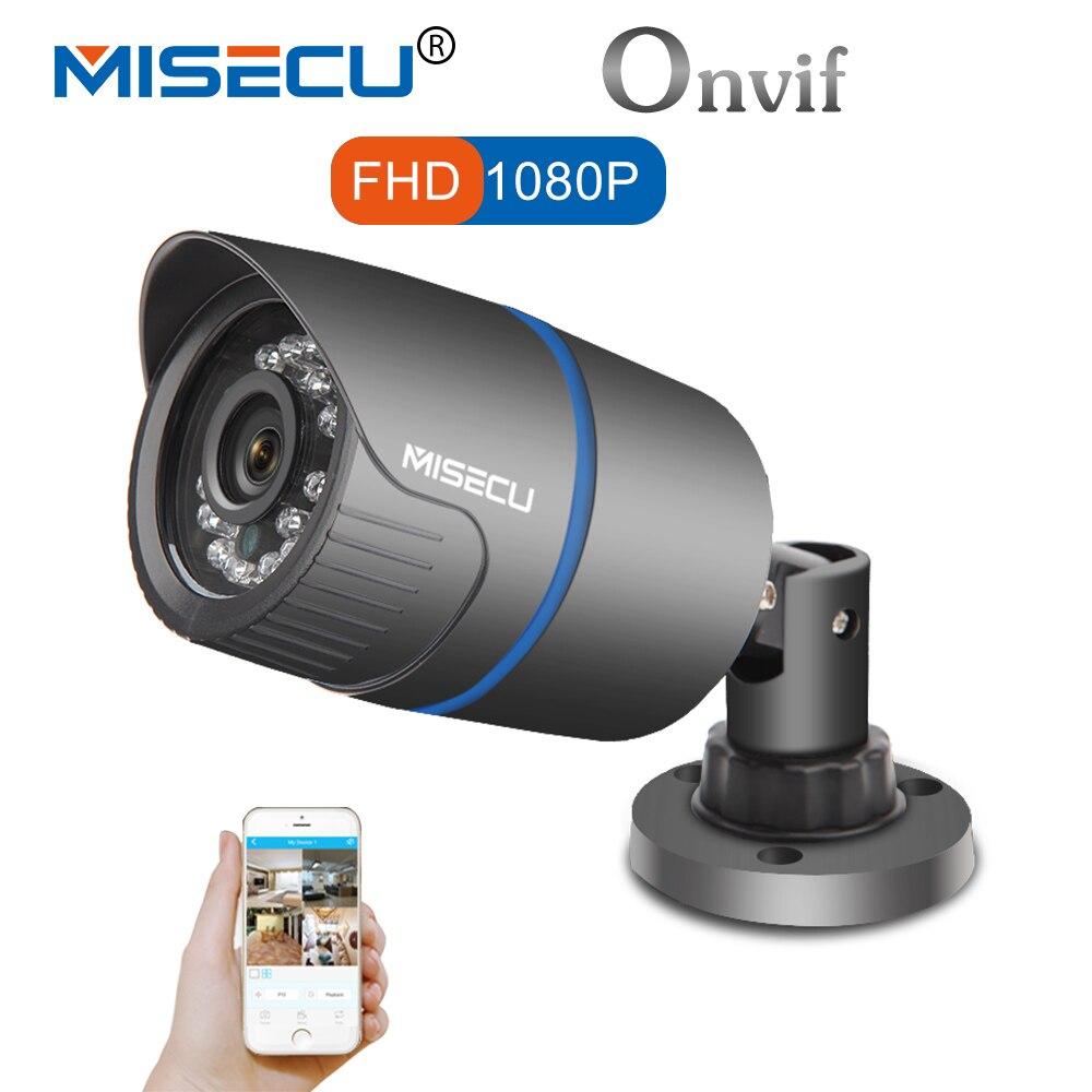 MISECU 2.8mm di larghezza IP Della Macchina Fotografica 1080 p 960 p 720 p ONVIF P2P di Rilevamento del Movimento RTSP email alert XMEye 48 v POE Di Sorveglianza CCTV Outdoor