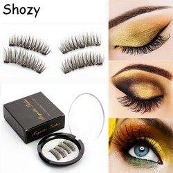 675f5605c9c Shozy Magnetic eyelashes with 3 magnets handmade 3D magnetic lashes natural  false eyelashes magnet lashes with