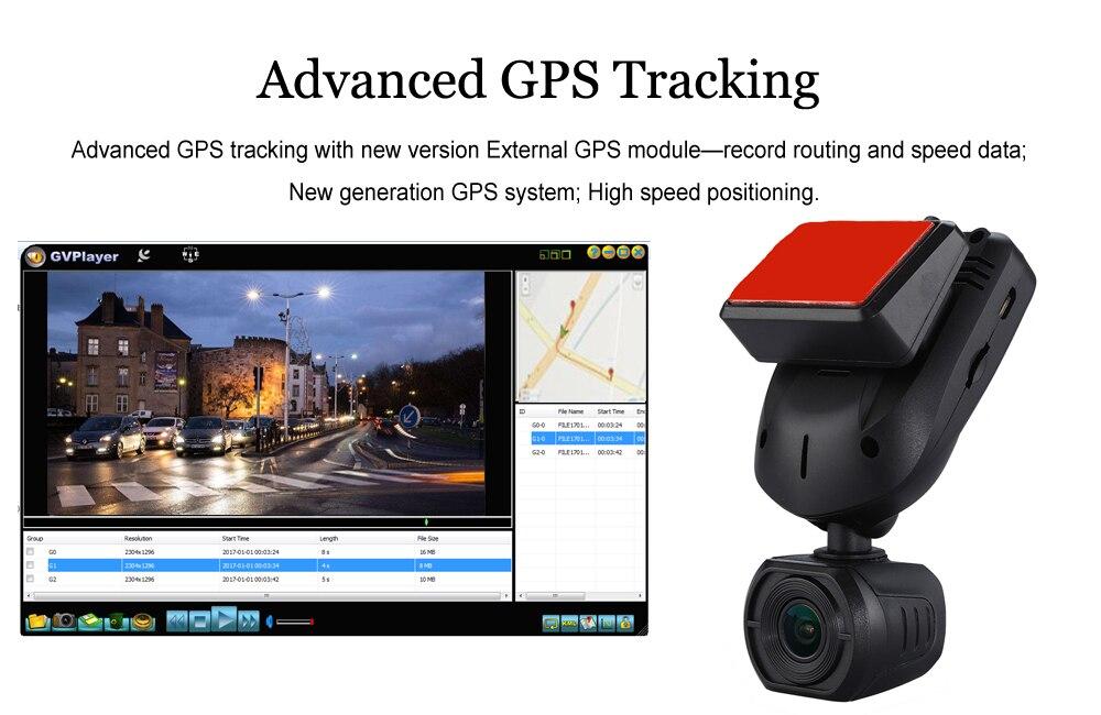 Conkim nouveau Mini Q9 HD voiture DVR 2 caméras avant 1080P + caméra de vue arrière avec Super condensateur voiture enregistreur Mode de stationnement GPS Tracker - 4