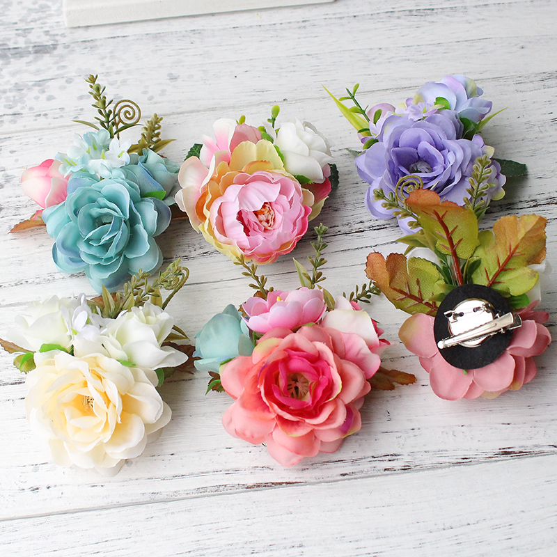 Korean Style Bridal Flower Leopard Hair Clip Hairpins Barrette Wedding Decoration Hair Accessories Beach Hairwear women girl bohemia bridal camellias hairband combs barrette wedding decoration hair accessories beach headwear