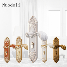 цены Nuodeli Retro Bedroom Handle Door Locks Home Mute Lock Solid Wood Door Locks Indoor Security Split Door Lock