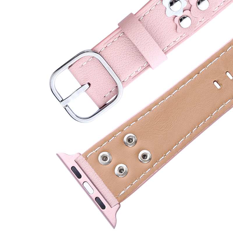 Bucle de cuero genuino FOHUAS para Apple Watch 5 bandas 44 mm 42 mm - Accesorios para relojes - foto 4