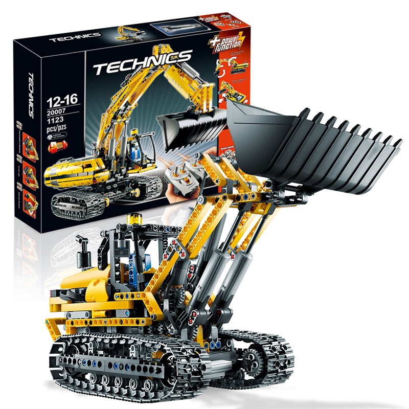 Lepin 20007 Motorized Excavator building bricks blocks Toys for children boys Game Model Car Gift Compatible with Bela 8043 hot sembo block compatible lepin architecture city building blocks led light bricks apple flagship store toys for children gift