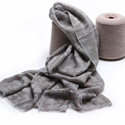 100%Cashmere Scarf Women Gray Leopard Pashmina Ring Yarn Extra Thin Natural Fabric Extra Soft&Warm High Quality Free Shipping