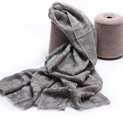 100% Kasjmier Sjaal Vrouwen Grijs Luipaard Pashmina Ring Garen Extra Dunne Natuurlijke Stof Extra Soft & Warm Hoge Kwaliteit Gratis verzending - 3