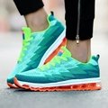 2017 Spring Autumn Men Shoes Outdoor Air Mesh Cushion Sport Shoes Couple Comfortable And Soft Casual Shoes Pink Green Fashion