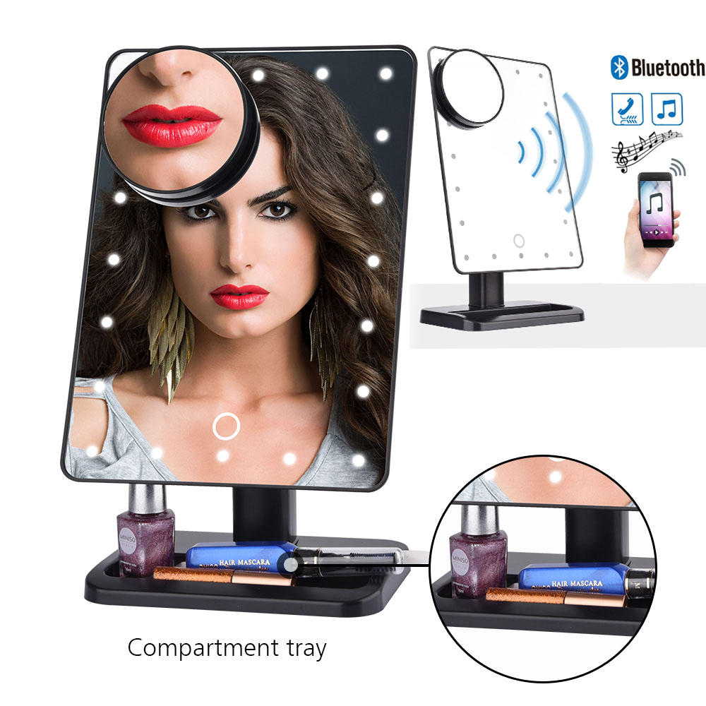 180 Degree Rotation 20 Led Touch Screen Makeup Mirror