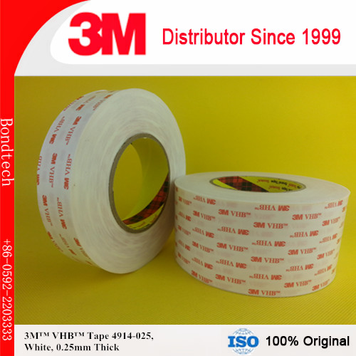 """12""""X33M  thin 3M VHB tape 4914 for LCD/Display and Bezel bonding,0.25mm thick, Free shipping"""