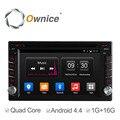 Ownice Android 4.4 2din Универсальный Dvd-плеер Автомобиля GPS Navi Quad Core Радио Автомобиль В Тире Стерео Видео 16 Г ROM Поддержка Ipod DAB +