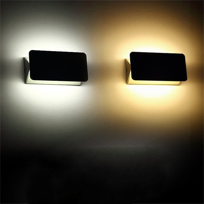 Creative Rotation Simple Interior LED Wall Lamp Modern Home Lighting Decoration Aluminum wall light 6W/10W/24W AC85-265V
